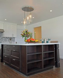 Large Island in Custom Kitchen